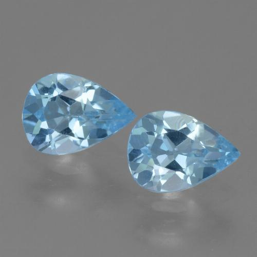 Sky Blue Topaz Gem - 0.8ct Pear Facet (ID: 455474)