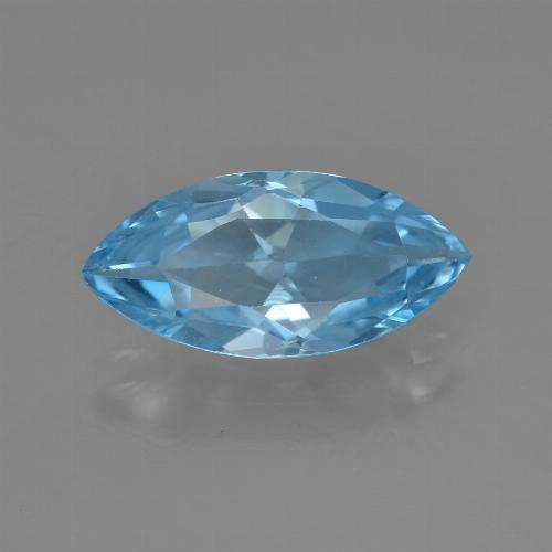 Sky Blue Topaz Gem - 3.8ct Marquise Facet (ID: 455477)