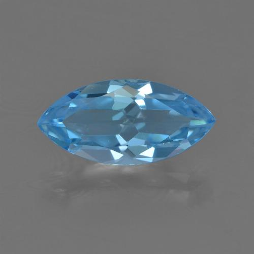 Intense Blue Topaz Gem - 3.7ct Marquise Facet (ID: 455480)