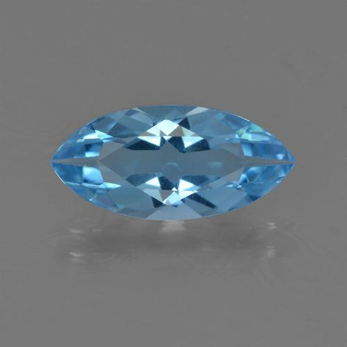 Sky Blue Topaz Gem - 3.2ct Marquise Facet (ID: 455482)
