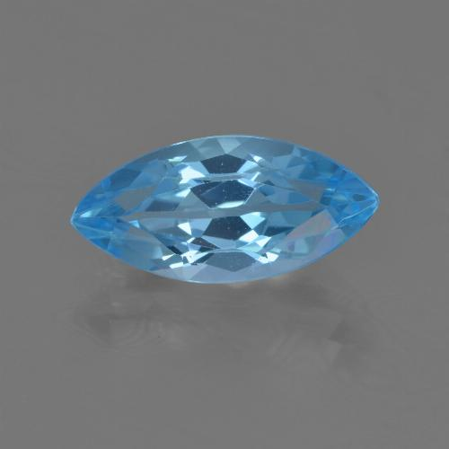 Sky Blue Topaz Gem - 4.1ct Marquise Facet (ID: 455486)