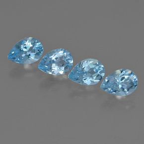 Light Blue Topaz Gem - 0.8ct Pear Facet (ID: 455494)
