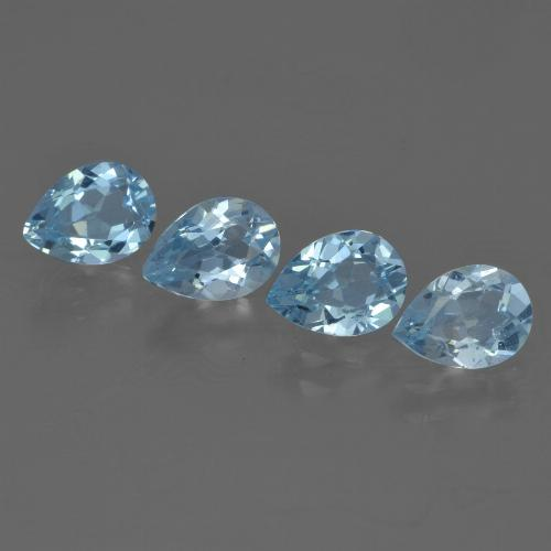 Sky Blue Topaz Gem - 0.8ct Pear Facet (ID: 455497)
