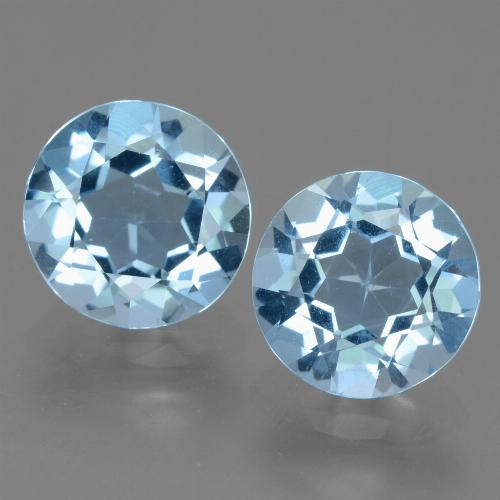 Sky Blue Topaz Gem - 2.4ct Round Facet (ID: 455499)