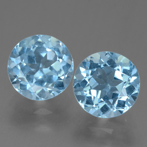 2.5ct Round Facet Sky Blue Topaz Gem (ID: 455503)