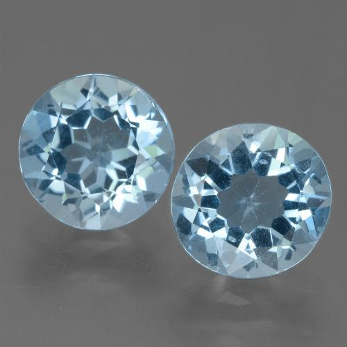 Swiss Blue Topaz Gem - 2.3ct Round Facet (ID: 455504)
