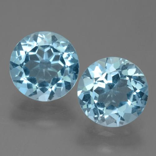 Sky Blue Topaz Gem - 2.2ct Round Facet (ID: 455506)