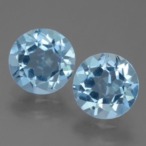 Sky Blue Topaz Gem - 2.3ct Round Facet (ID: 455507)