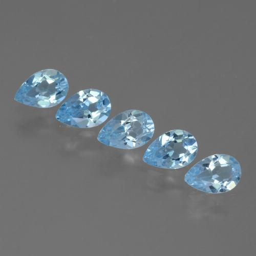 Sky Blue Topaz Gem - 0.5ct Pear Facet (ID: 455525)