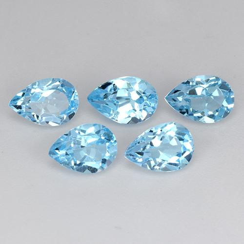 Sky Blue Topaz Gem - 0.6ct Pear Facet (ID: 455528)