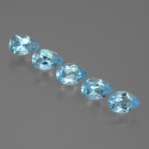 Sky Blue Topaz Gem - 0.5ct Pear Facet (ID: 455533)