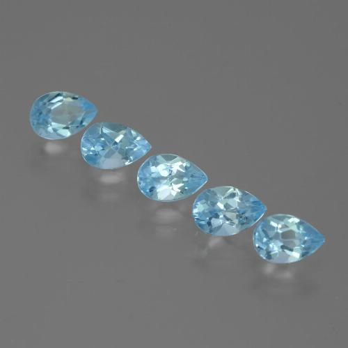 Sky Blue Topaz Gem - 0.6ct Pear Facet (ID: 455534)