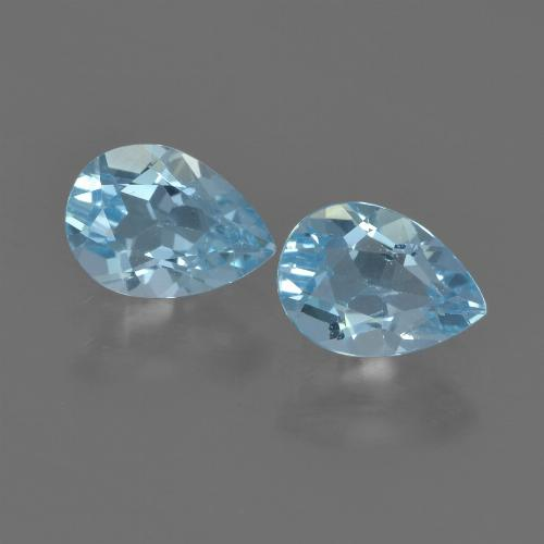 Sky Blue Topaz Gem - 0.9ct Pear Facet (ID: 455538)
