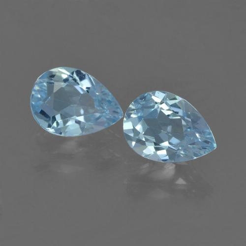 Sky Blue Topaz Gem - 0.8ct Pear Facet (ID: 455540)