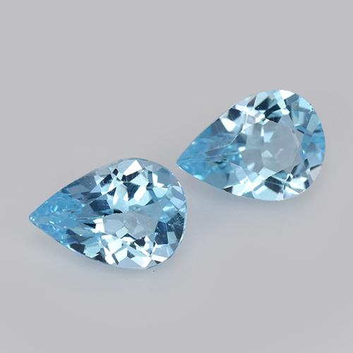 Sky Blue Topaz Gem - 0.7ct Pear Facet (ID: 455543)