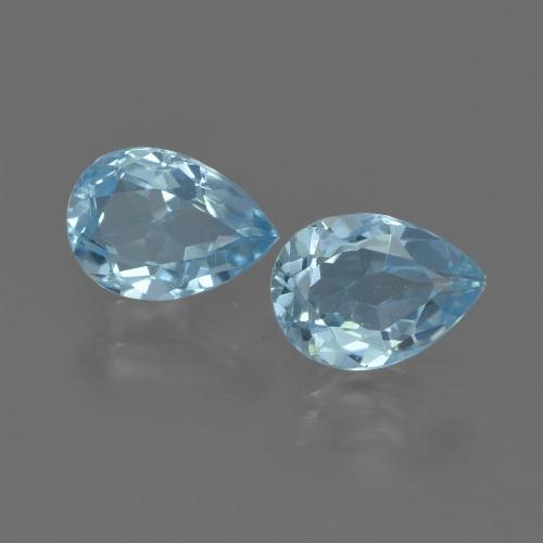 Sky Blue Topaz Gem - 0.9ct Pear Facet (ID: 455544)