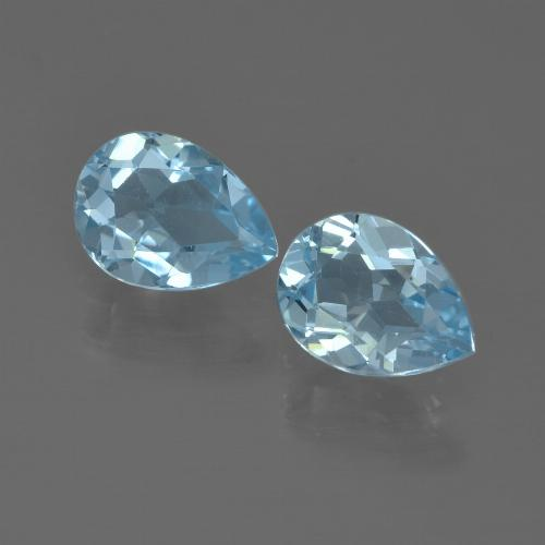 Sky Blue Topaz Gem - 0.9ct Pear Facet (ID: 455545)