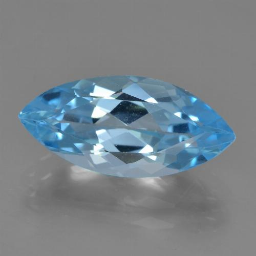 Sky Blue Topaz Gem - 3.9ct Marquise Facet (ID: 455559)
