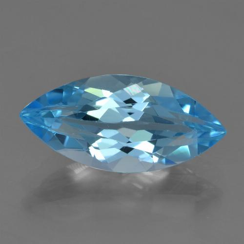 Sky Blue Topaz Gem - 3.5ct Marquise Facet (ID: 455560)