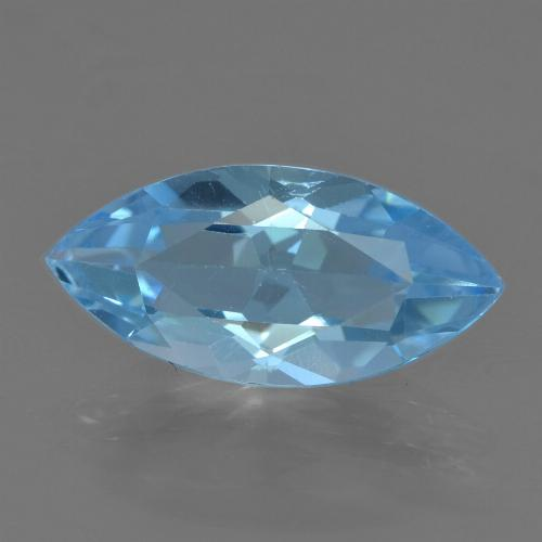 Sky Blue Topaz Gem - 3.8ct Marquise Facet (ID: 455566)