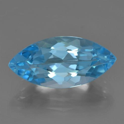 Sky Blue Topaz Gem - 4.3ct Marquise Facet (ID: 455569)