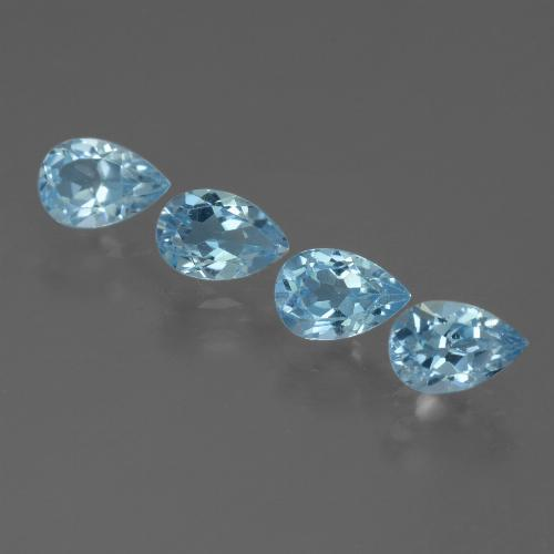 Sky Blue Topaz Gem - 0.6ct Pear Facet (ID: 455585)
