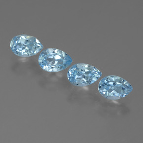 Sky Blue Topaz Gem - 0.6ct Pear Facet (ID: 455586)
