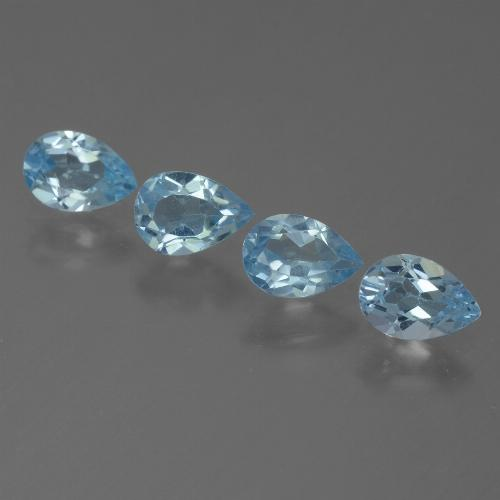 Sky Blue Topaz Gem - 0.5ct Pear Facet (ID: 455588)