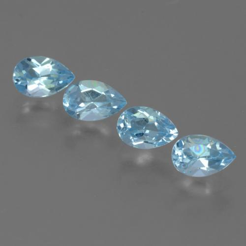Sky Blue Topaz Gem - 0.5ct Pear Facet (ID: 455590)