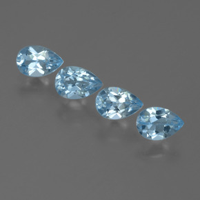 Sky Blue Topaz Gem - 0.5ct Pear Facet (ID: 455592)
