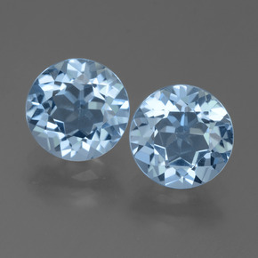 Sky Blue Topaz Gem - 2.4ct Round Facet (ID: 455597)