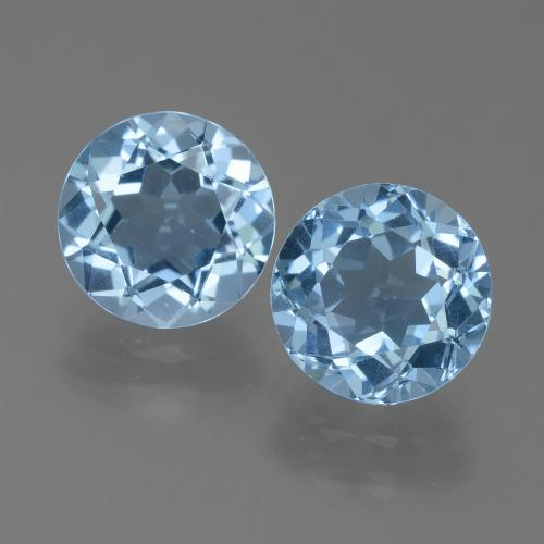 Light Baby Blue Topaz Gem - 2.4ct Round Facet (ID: 455598)