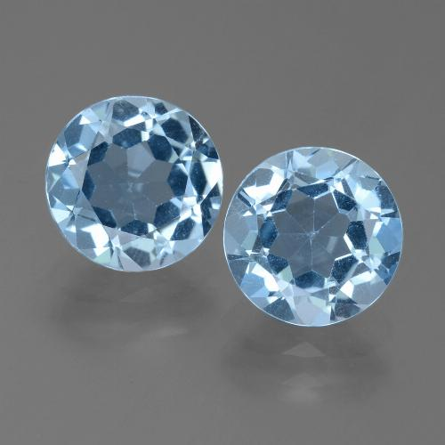 Sky Blue Topaz Gem - 2.3ct Round Facet (ID: 455599)
