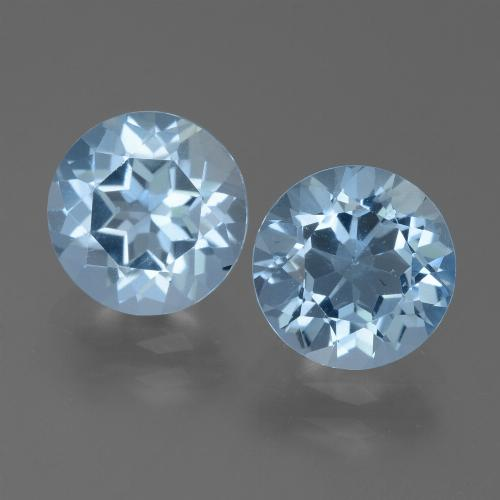Sky Blue Topaz Gem - 2.5ct Round Facet (ID: 455600)