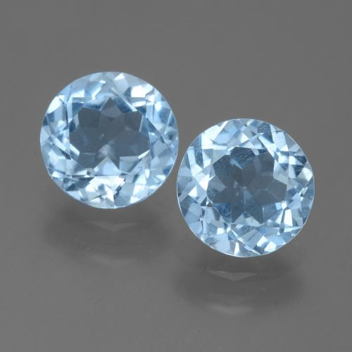 Sky Blue Topaz Gem - 2.1ct Round Facet (ID: 455604)