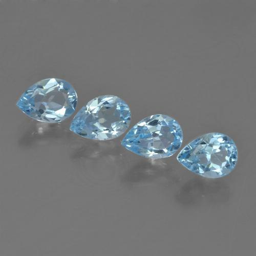 Sky Blue Topaz Gem - 0.7ct Pear Facet (ID: 455611)