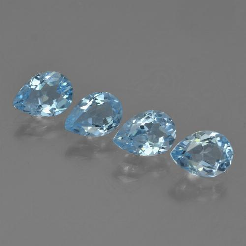 Sky Blue Topaz Gem - 0.8ct Pear Facet (ID: 455613)