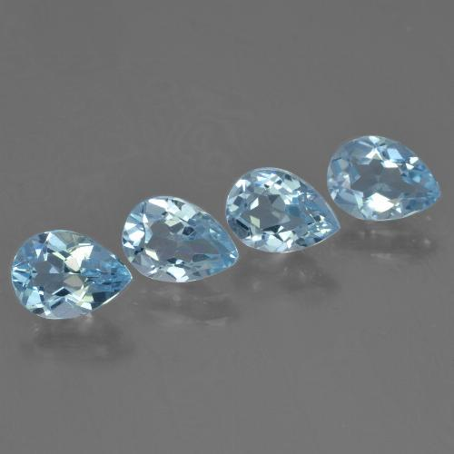 Sky Blue Topaz Gem - 0.8ct Pear Facet (ID: 455616)