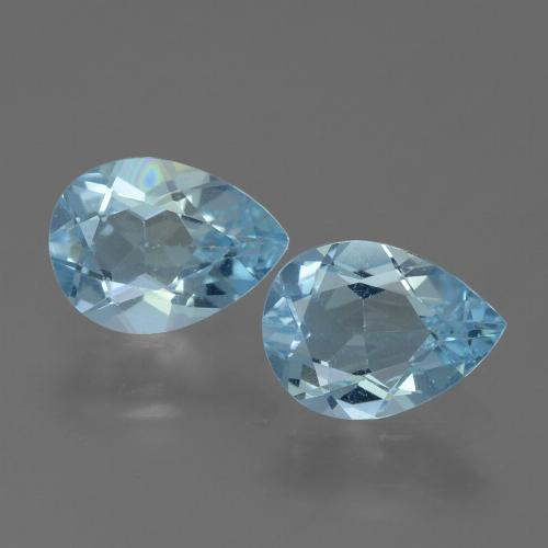 Sky Blue Topaz Gem - 0.8ct Pear Facet (ID: 455624)