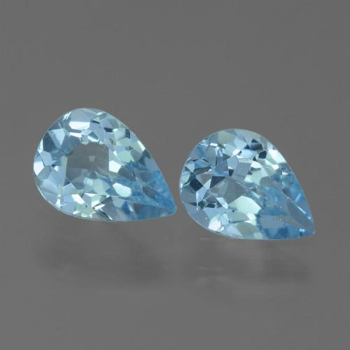 Swiss Blue Topaz Gem - 0.7ct Pear Facet (ID: 455625)