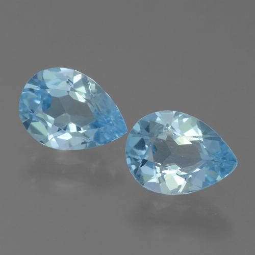 Baby Blue Topaz Gem - 0.8ct Pear Facet (ID: 455628)