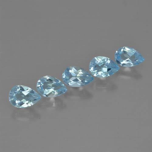 Sky Blue Topaz Gem - 0.5ct Pear Facet (ID: 455642)