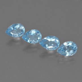 Sky Blue Topaz Gem - 0.8ct Pear Facet (ID: 455671)