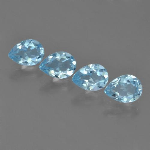 Sky Blue Topaz Gem - 0.9ct Pear Facet (ID: 455672)