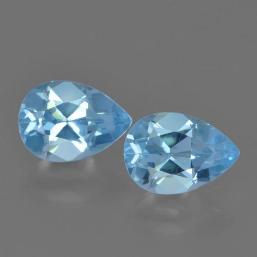 Sky Blue Topaz Gem - 0.9ct Pear Facet (ID: 455682)