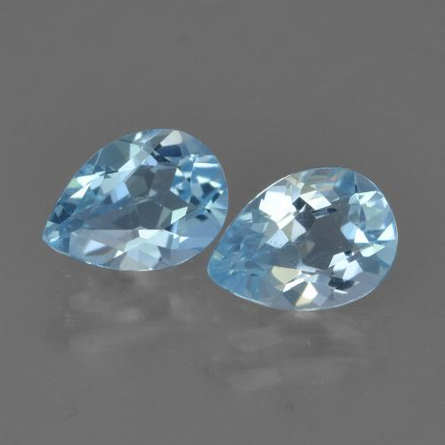 Sky Blue Topaz Gem - 0.8ct Pear Facet (ID: 455688)