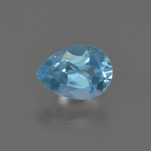 Sky Blue Topaz Gem - 0.9ct Pear Facet (ID: 455703)