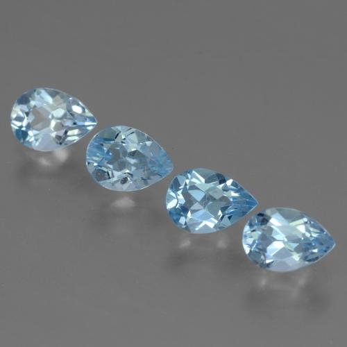 0.87 ct Pear Facet Sky Blue Topaz Gemstone 7.12 mm x 5.1 mm (Product ID: 455715)