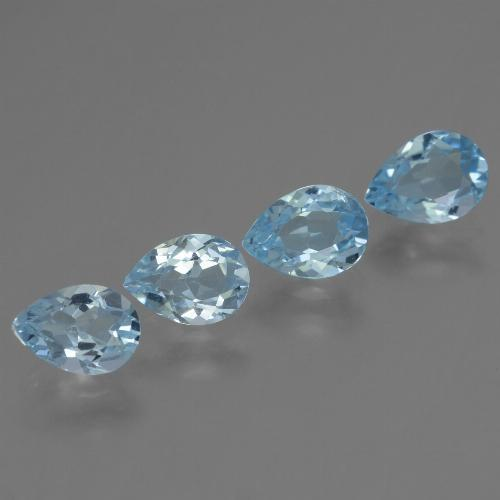 Sky Blue Topaz Gem - 0.8ct Pear Facet (ID: 455720)