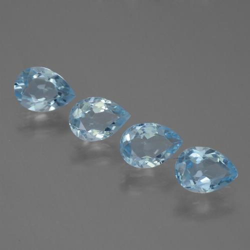Baby Blue Topaz Gem - 0.8ct Pear Facet (ID: 455725)